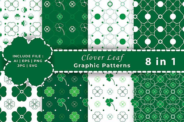 Clover Leaf / Four leaf Graphic Seamless Patterns