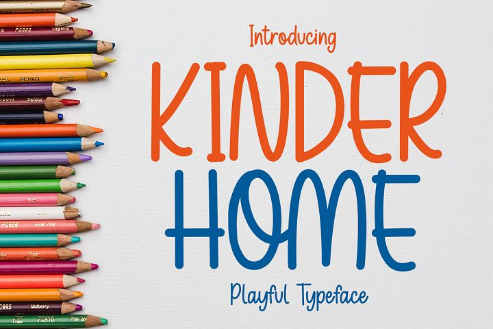 Kinder Home - Playful Font