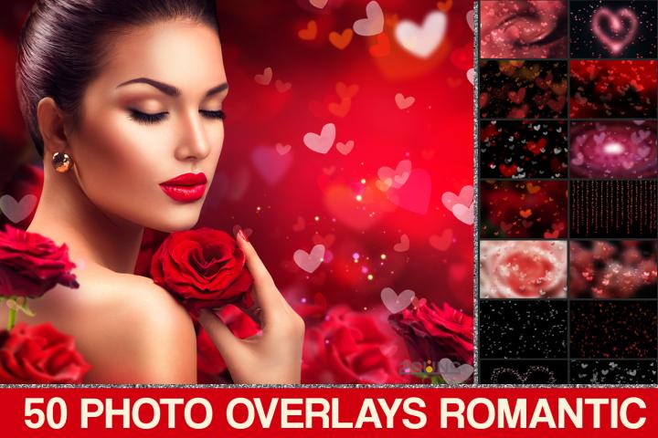 Valentines Bokeh heart, Romantic overlays, Photoshop overlay