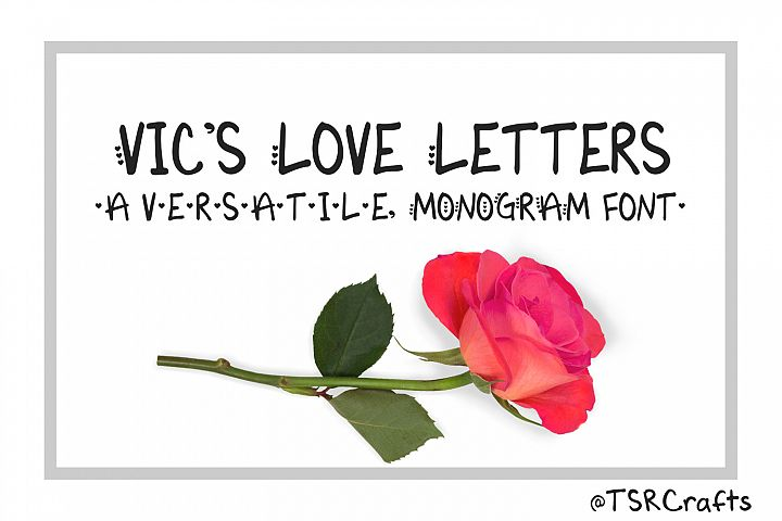 Monogram font - Vics Love Letters