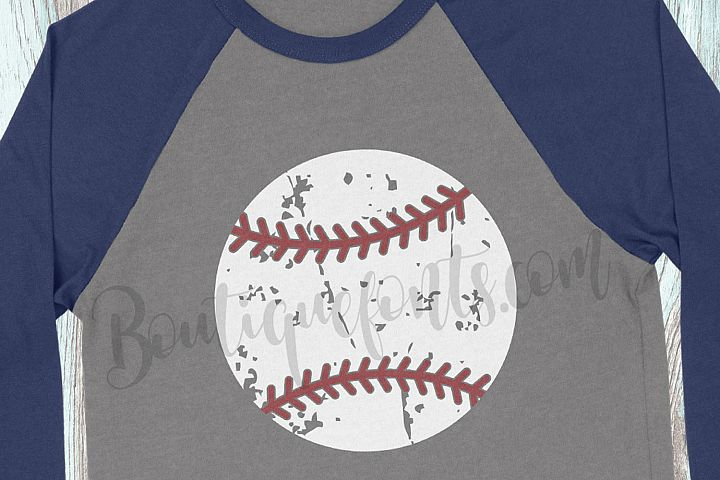Distressed Baseball SVG