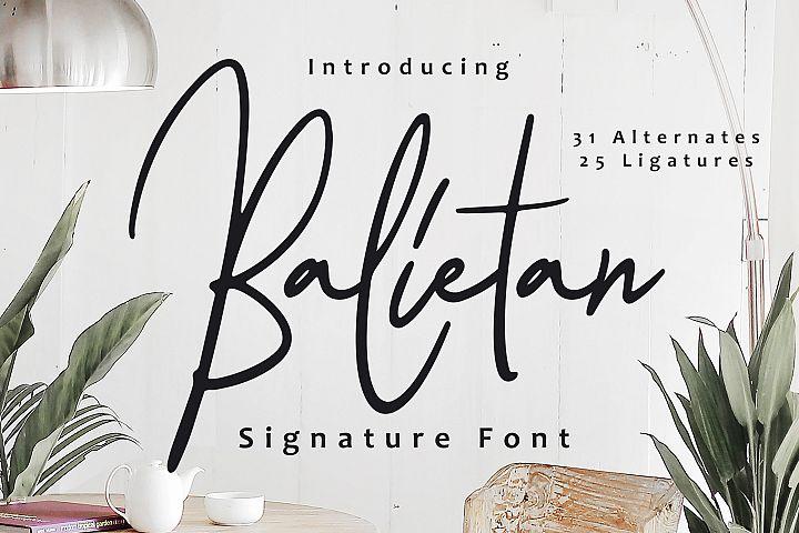 Balietan Signature Font