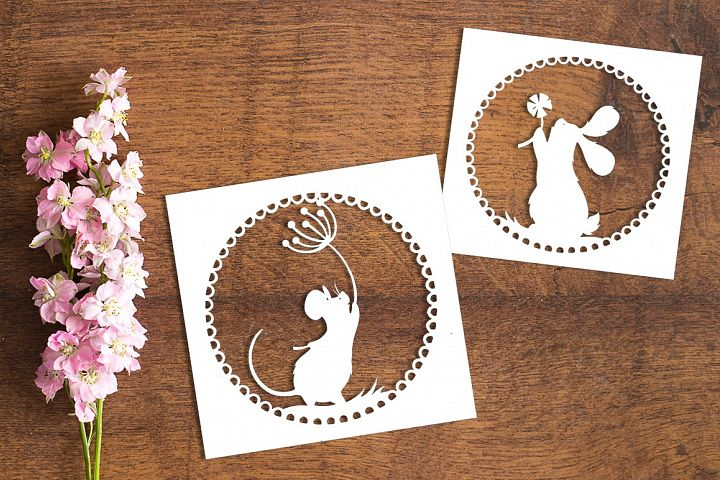Dandellion Dream - Paper Cutting Template