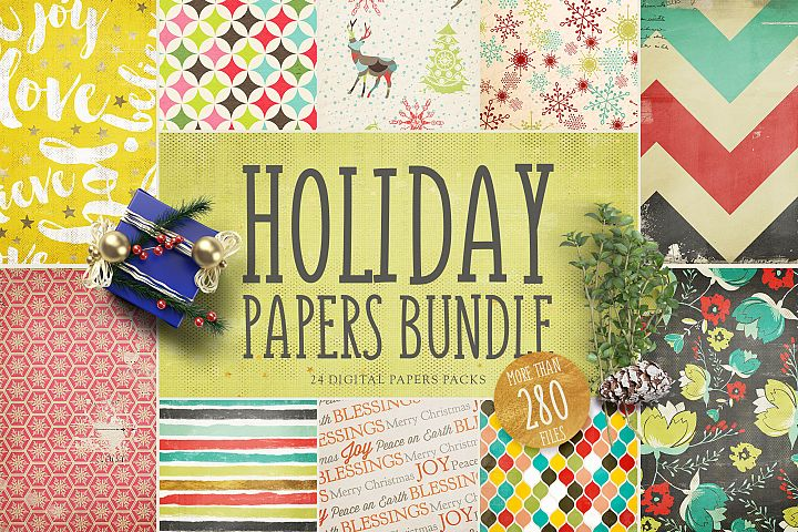 Holiday Digital Papers Bundle