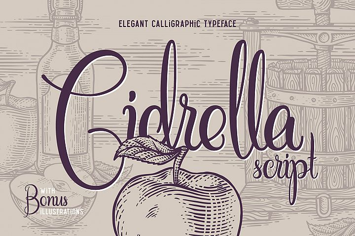 Cidrella script & graphics