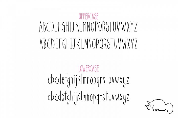 Scat Cat - Free Font of The Week Design 3