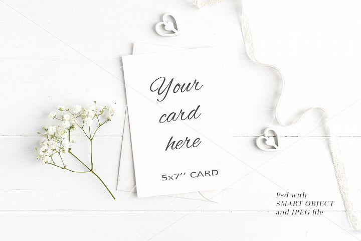 Wedding 5x7 Card Mockup - crd214