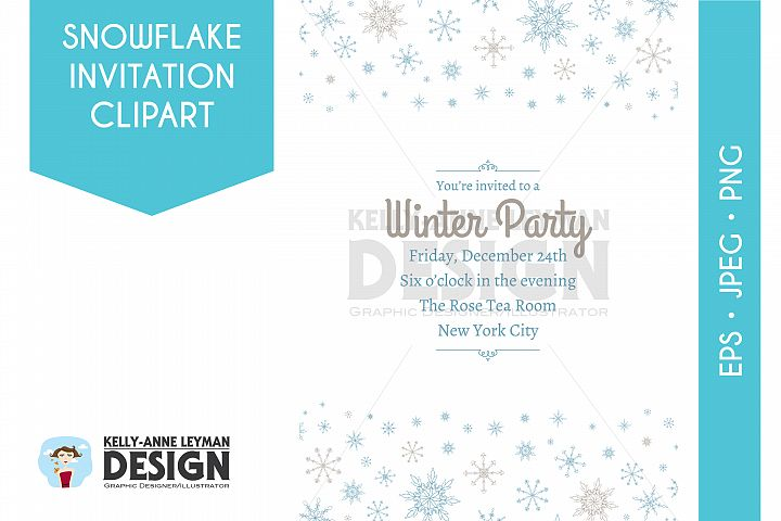 Printable Holiday Invitation, Printable Winter Invitation