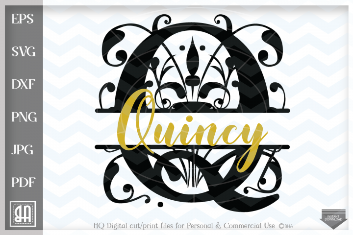 Regal Split Monogram Letters SVG - Regal Letters cut files