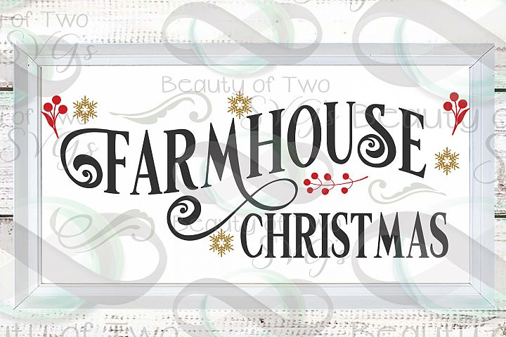 Farmhouse Christmas svg, Rustic Farmhouse Sign design svg