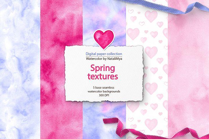 Watercolor sweet love digital papers