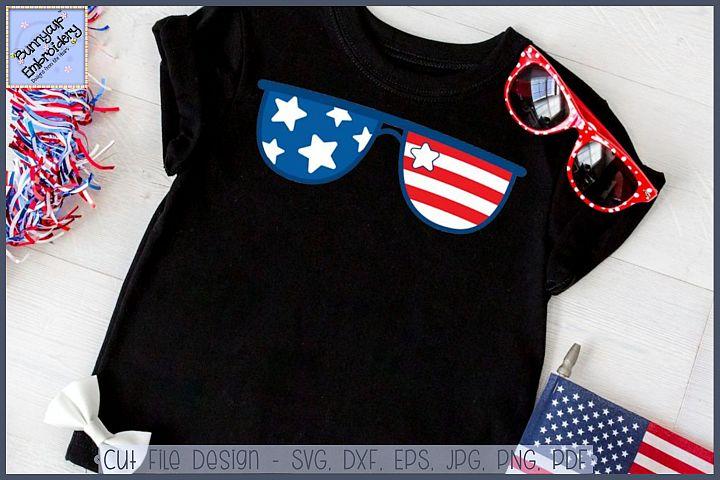 Patriotic Sunglasses SVG Cut File and Clipart