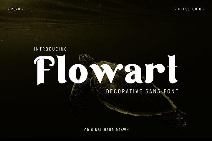 Flowart - Personal Decorative Font