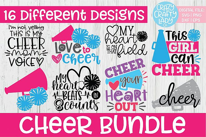Cheer SVG DXF EPS PNG Cut File Bundle