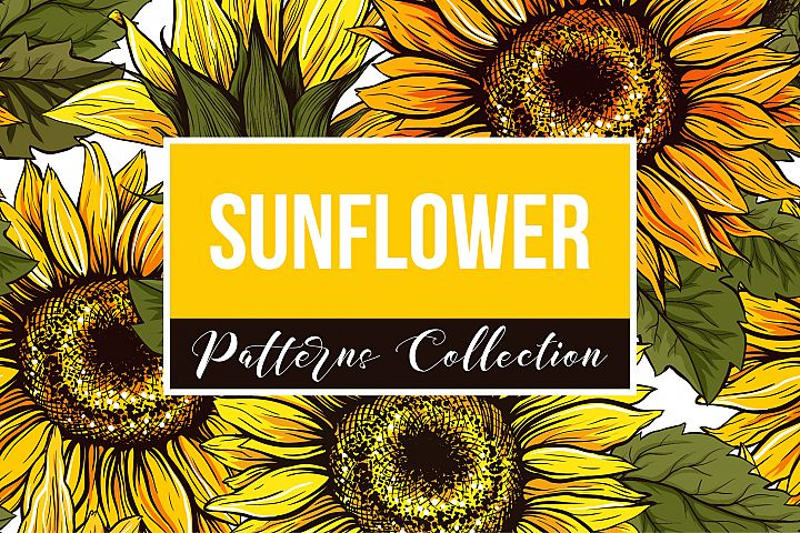 Sunflower Patterns Collection, SVG and Clipart!