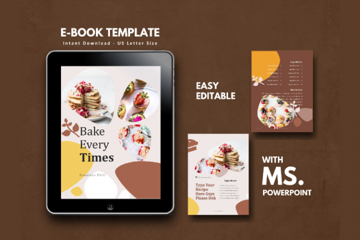 16 Pages Recipe eBook Template bakery powerpoint template
