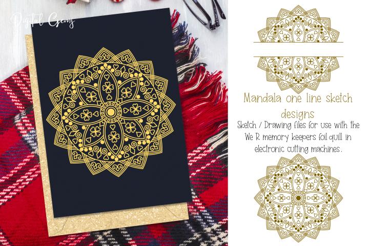 Mandala & split mandala foil quill / sketch single line file