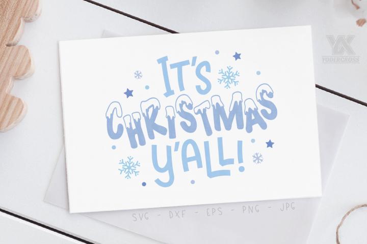 Its Christmas Yall SVG