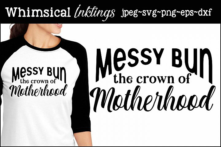 Messy Bun SVG