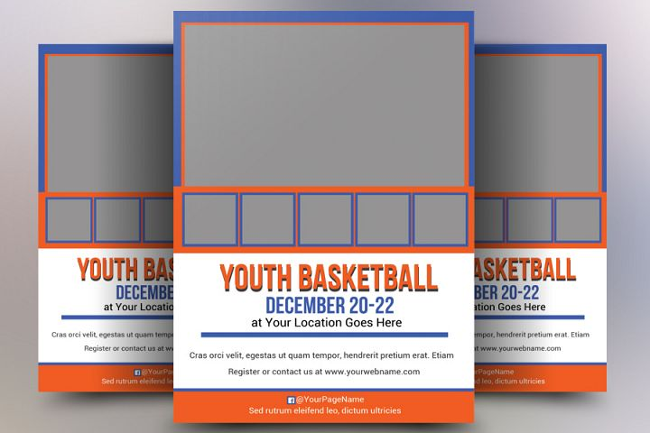 Youth Basketball Flyer Templates