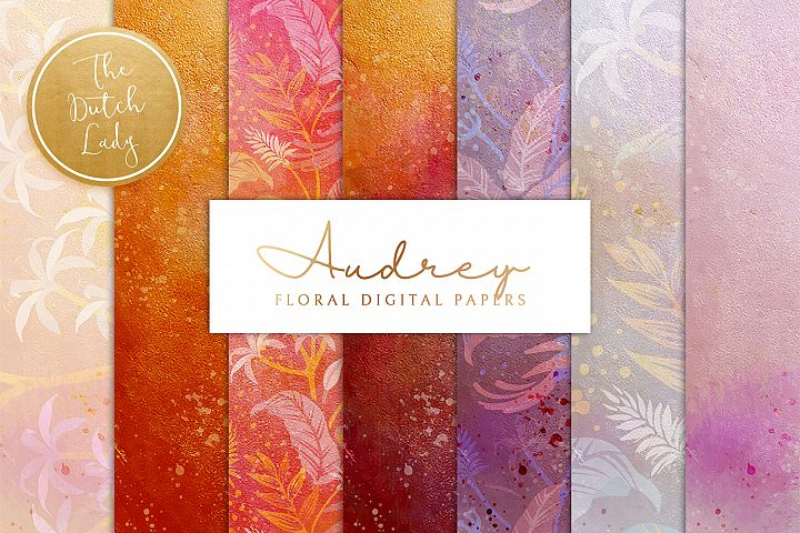 Floral Backgrounds & Paper Designs - Audrey