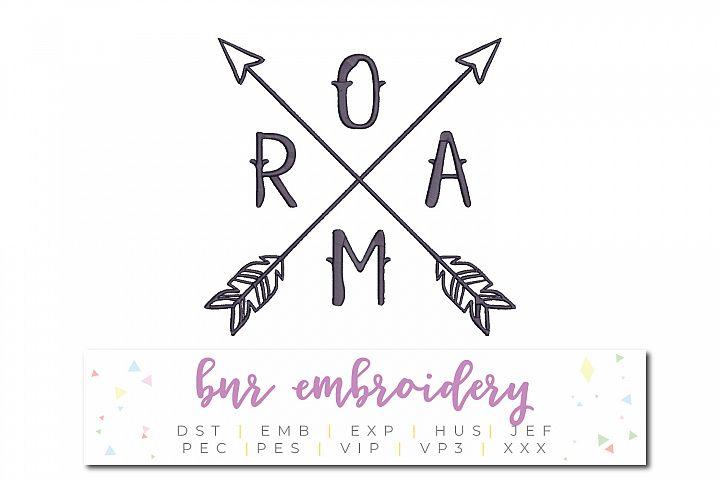 Roam Machine Embroidery Design