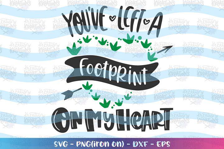 Valentines-youve left a footprint dinosaur svg