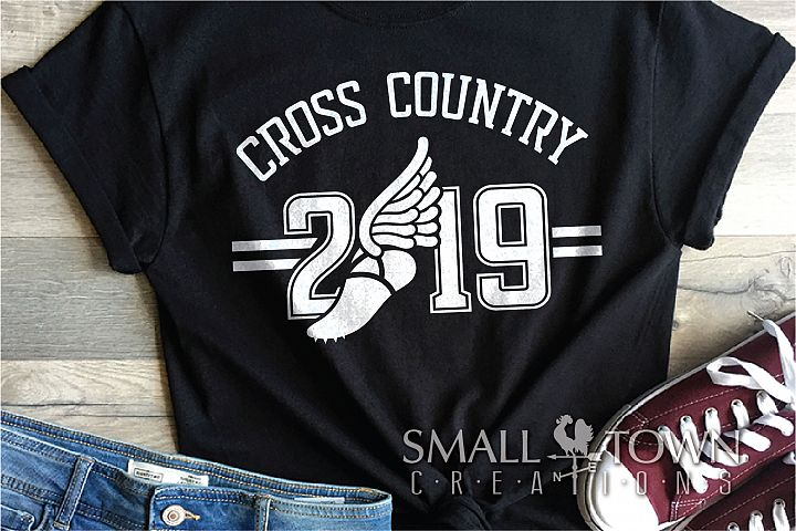 Cross Country, Running logo, Winged shoe, PRINT, CUT, DESIGN