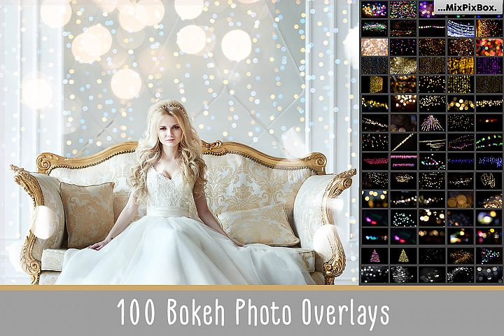 100 Bokeh Photo Overlays