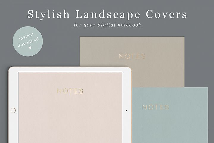 Landscape goodnotes notebook covers