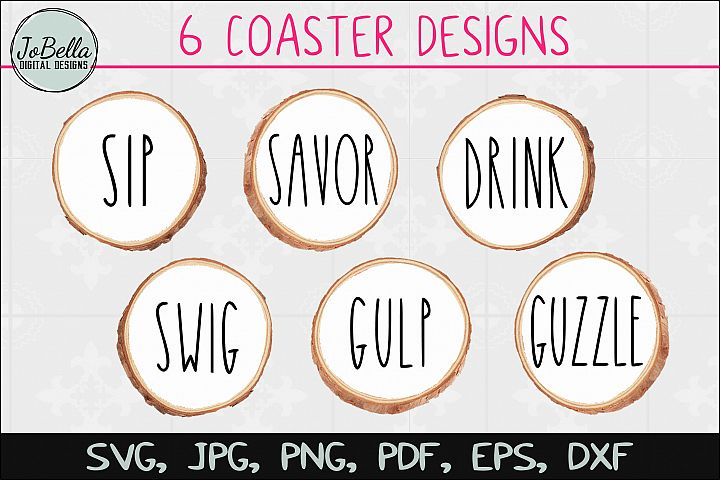 Coaster SVG Bundle, Sublimation PNGs and Printables