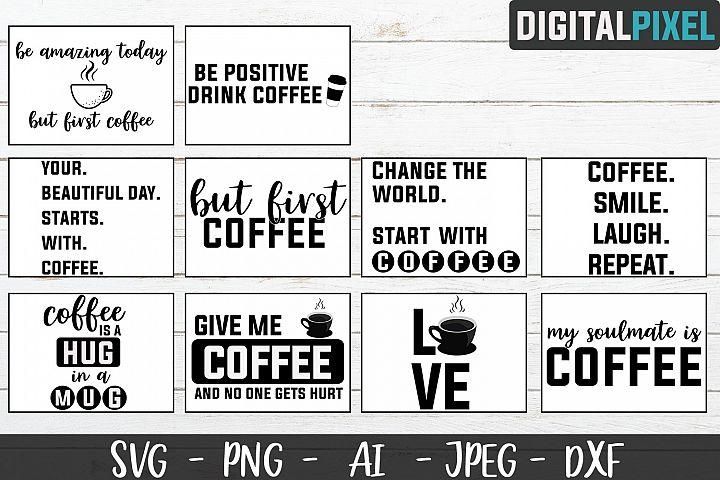 Coffee Bundle SVG PNG JPEG DXF Circut Cut Coffee Crafters