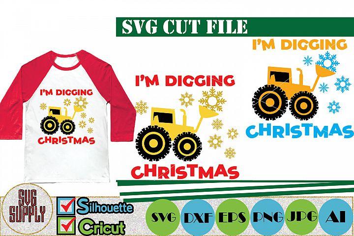 Im digging Christmas SVG Cut File