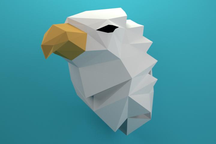 Griffin Papercraft, Fabulous beast, Paper Griffin, Griffon