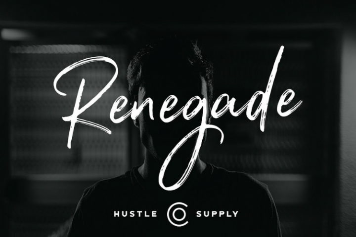 Renegade - Hand Painted Signature - Font