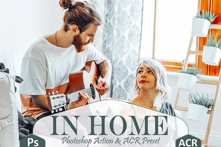 10 In Home Photoshop Actions And ACR Presets, indoor theme
