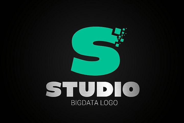 Letter S Big Data Logo
