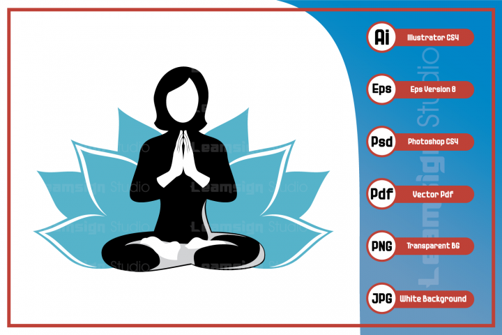Vector character illustration - Woman doing yoga