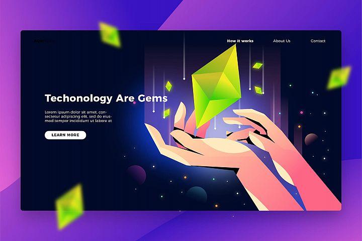 Gem Tech - Banner & Landing Page