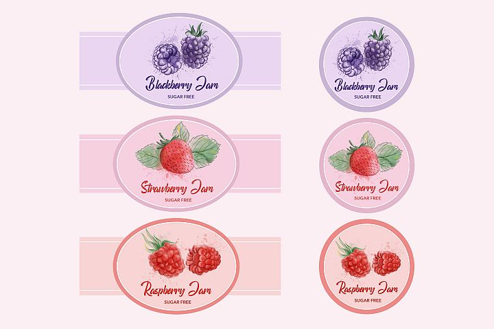 Berry Labels Badges