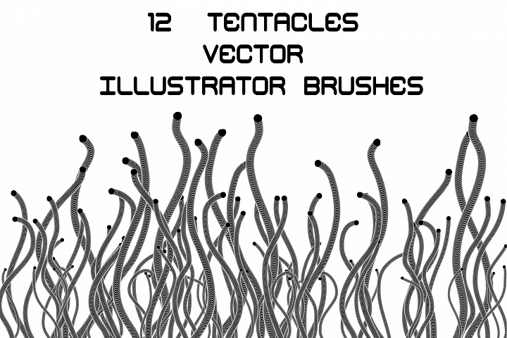 Tentacles - Futuristic Adobe Illustrator Brushes Pack