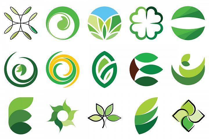 Green leaves set 1