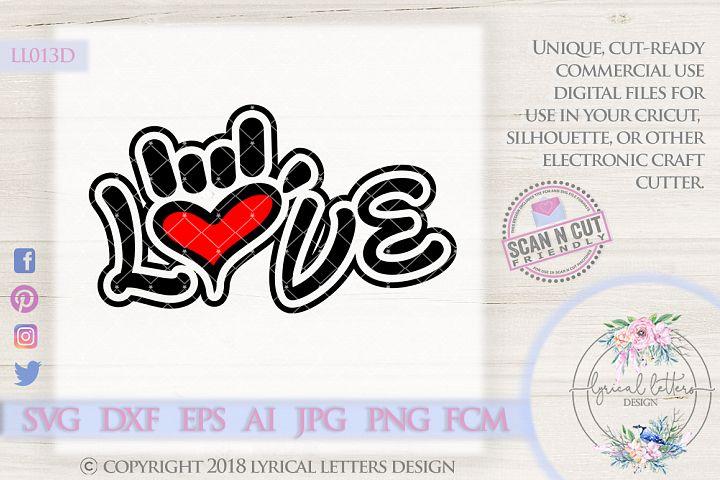 Sign-Language Love Hand Sign Wedding SVG Cut File LL013 D