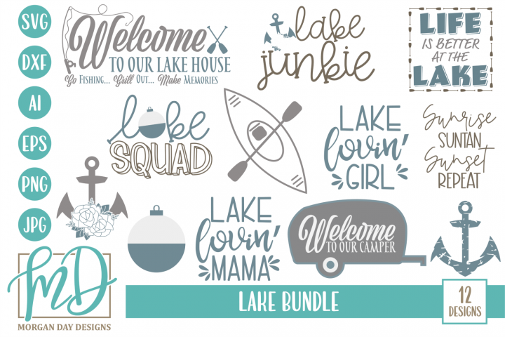 Vacation - Camping - Summer - Lake Bundle SVG