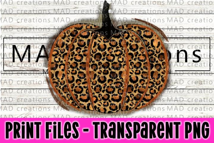 Leopard Print Pumpkin Print File Clipart