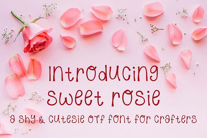 Sweet Rosie - A Hand Written OTF font