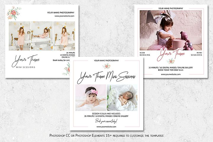 Mini Sessions Marketing Templates