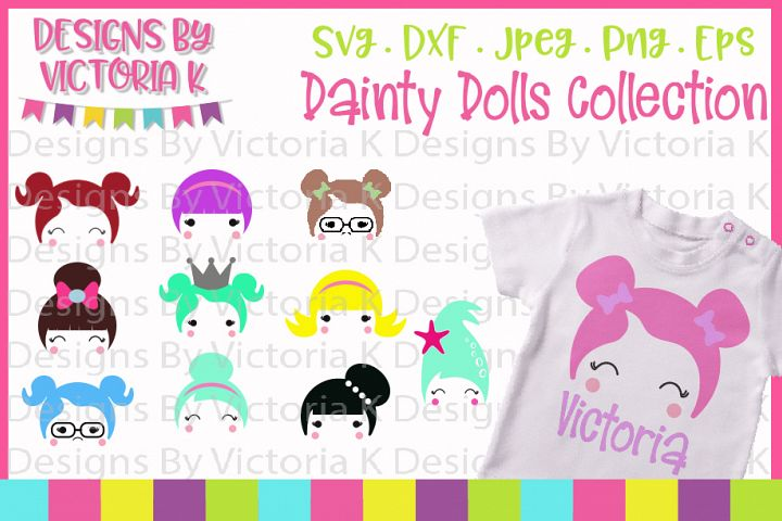 Doll svg, Dainty Dolls Collection, SVG, DXF, EPS, PNG