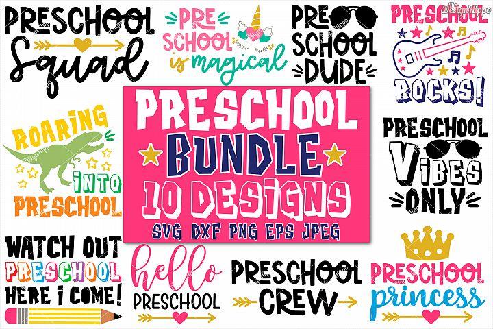 Preschool Bundle of 10 Designs SVG DXF PNG Cricut Cut Files