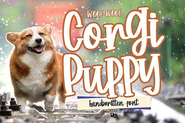 Corgi Puppy - Handwritten Font